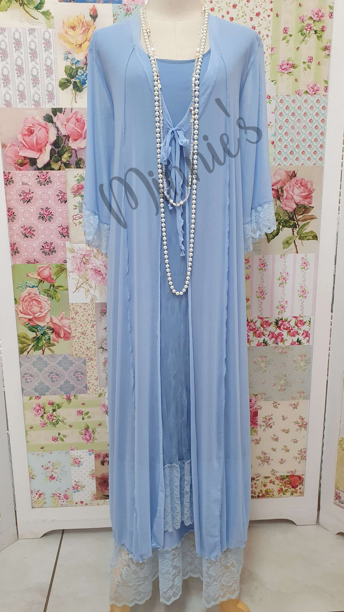 Blue 3-Piece Dress Set LR099
