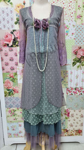 Mauve 4-Piece Dress ML023