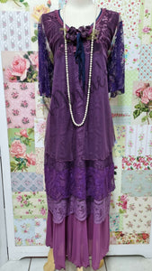 Purple 3-Piece Dress Set ML0217