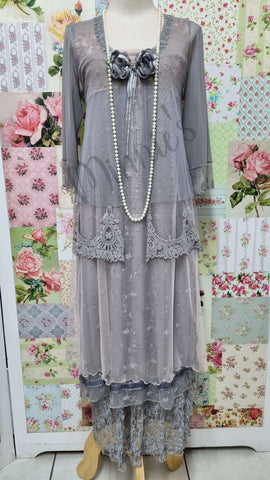 Grey 4-Piece Dress ML031