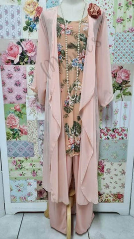 Peach 4-Piece Pants Set MB0106