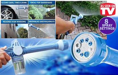 EZ Jet Water Cannon 8-Nozzle Multi-Function Spray Gun