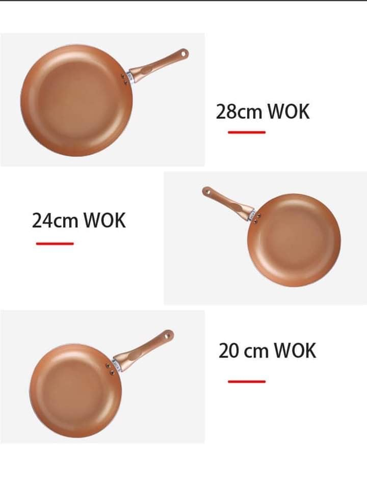 Copper Ceramic Non Stick Frying Pans