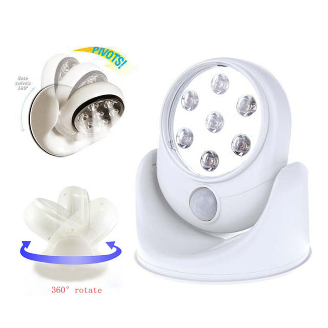 Light Angel Motion Activated Stick Up LED Sensor Light (White)