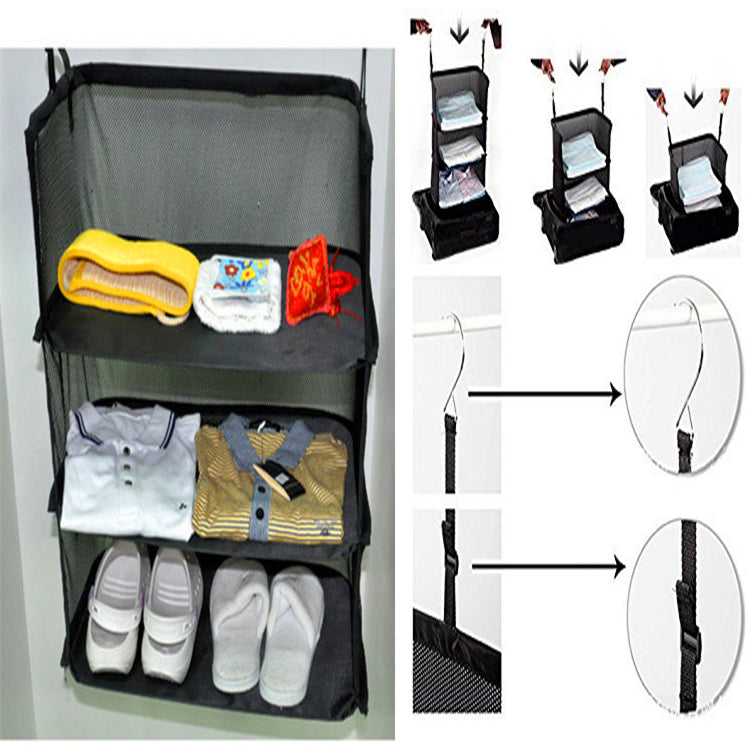 Portable 3 Layers Travel Hanging Storage