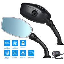 Dual 2.7 inch motorcycle mirror camera 1080p front-back loop recording motorcycle camera recorder