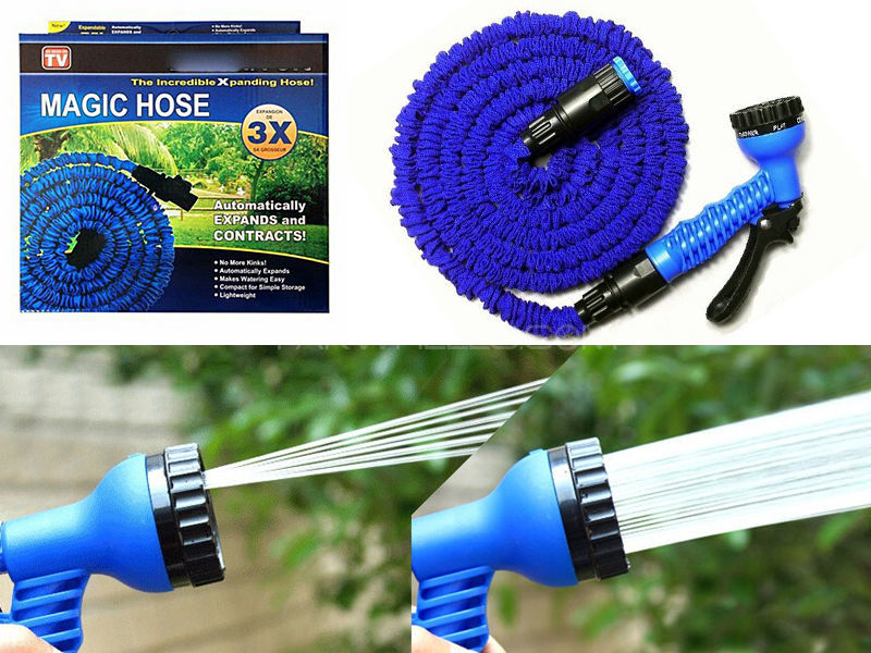 Multifunctional Expandable Flexible Hose Pipe & Spray Gun BLUE (10, 22 5  and 30meters)