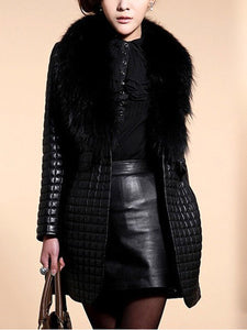Comfortable Fur Collar Overcoats
