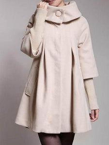 Trendy Turtleneck With Pockets Overcoats