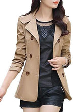 Plain Breasted Charming Lapel Trench-Coats
