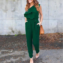 Ladies Party Ruffle Jumpsuit Romper Trousers