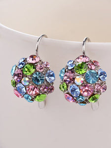 Multicolor Faux Rhinestone Earring