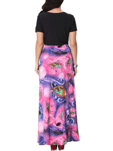 Charming Sweet Heart Plus Size Maxi Dress In Paisley Printed