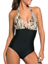 Halter  Camouflage Backless One Piece
