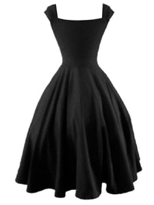 Feminine Sweet Heart Plain Skater Dress