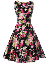 Gorgeous Floral Printed Round Neck Skater Dress