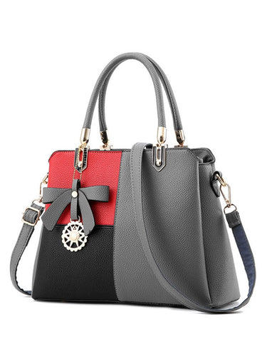 Color Block Chic Shoulder Bag