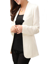 Trendy Plain Long Sleeve Blazer