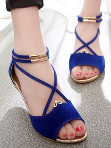 Three Colors Woman Comfort Plain Sandals