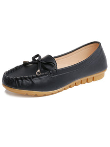 Plain  Leather  Casual Flat & Loafers