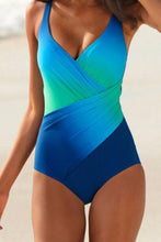 Spaghetti Strap V Neck Gradient One Piece