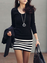 Cheap Striped Mini Bodycon Dress