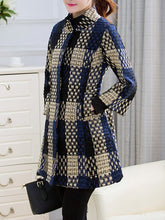 High Neck Pocket Longline Woolen Coat