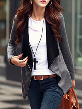 Lapel Pocket Zips Blazer
