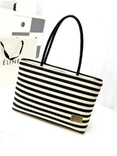 Canvas Striped Shoulder Bag