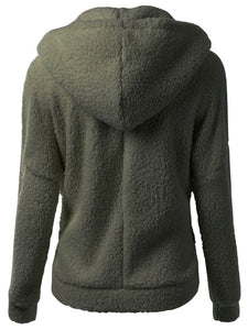 Solid Patch Pocket Fleece Hoodie