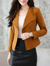 Lapel  Single Button  Plain Jacket