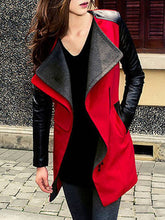 Lapel Patchwork Pocket Coat