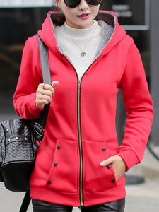 Hooded  Patch Pocket Coat