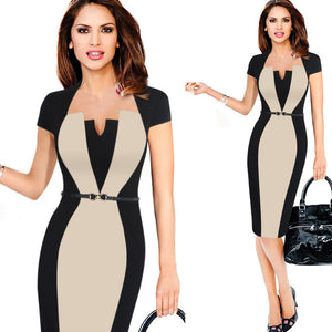 Women Elegant Work Office Business Party Bodycon Dress