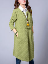 Collarless Pocket Single Button Plain Trench Coat