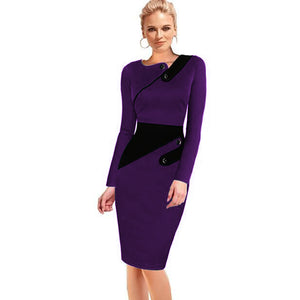 Women Formal Work Office  Plus Size Pencil Bodycon Dress