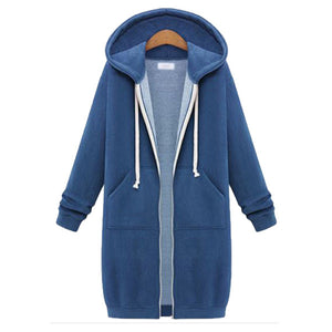 Women's Hooded Coat Thick Overcoat