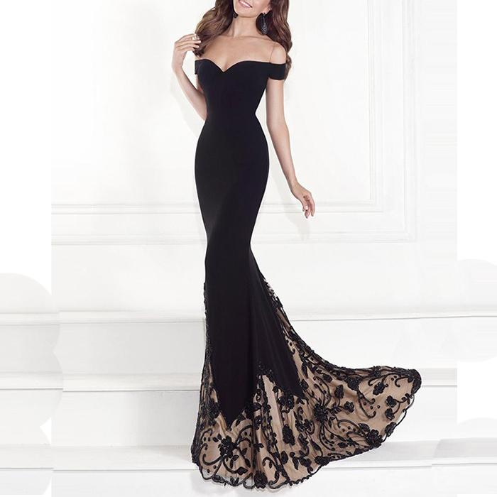 Off-Shoulder Sexy Evening Dress