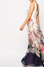 Crew Neck  Backless  Bohemian Maxi Dresses