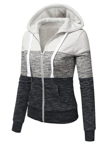 Color Block Patch Pocket  Hoodie