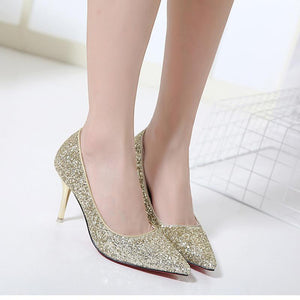 Crystal Shoes Wedding Bride High Heel
