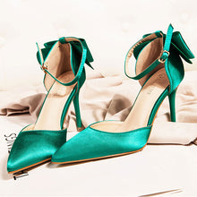 Shallow Mouth Silk Satin Sandals Wedding Shoes