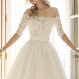 Elegant Lace Wedding Party Dress
