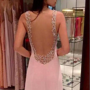 Sexy Halter Deep V-Neck Long Wedding Evening Dress