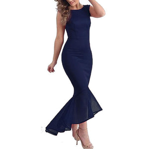 Elegant Slim Fishtail Wedding Party Dress