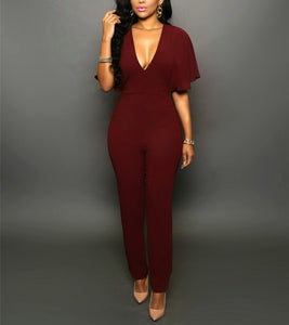 Sexy V-Neck Jumpsuit