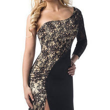 Sexy Lace Stitching Party Dress
