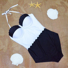 Black/White Bikini High Waist Swimwear