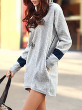 Hooded  Fashion Color Block Hoodie