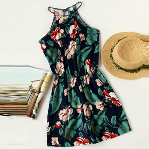 Floral Printed Beach Holiday Jumpsuit
